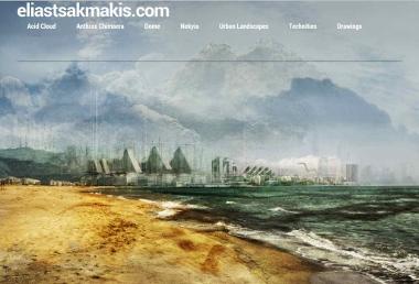Elias Tsakmakis.com homepage designed by Epicurus Garden